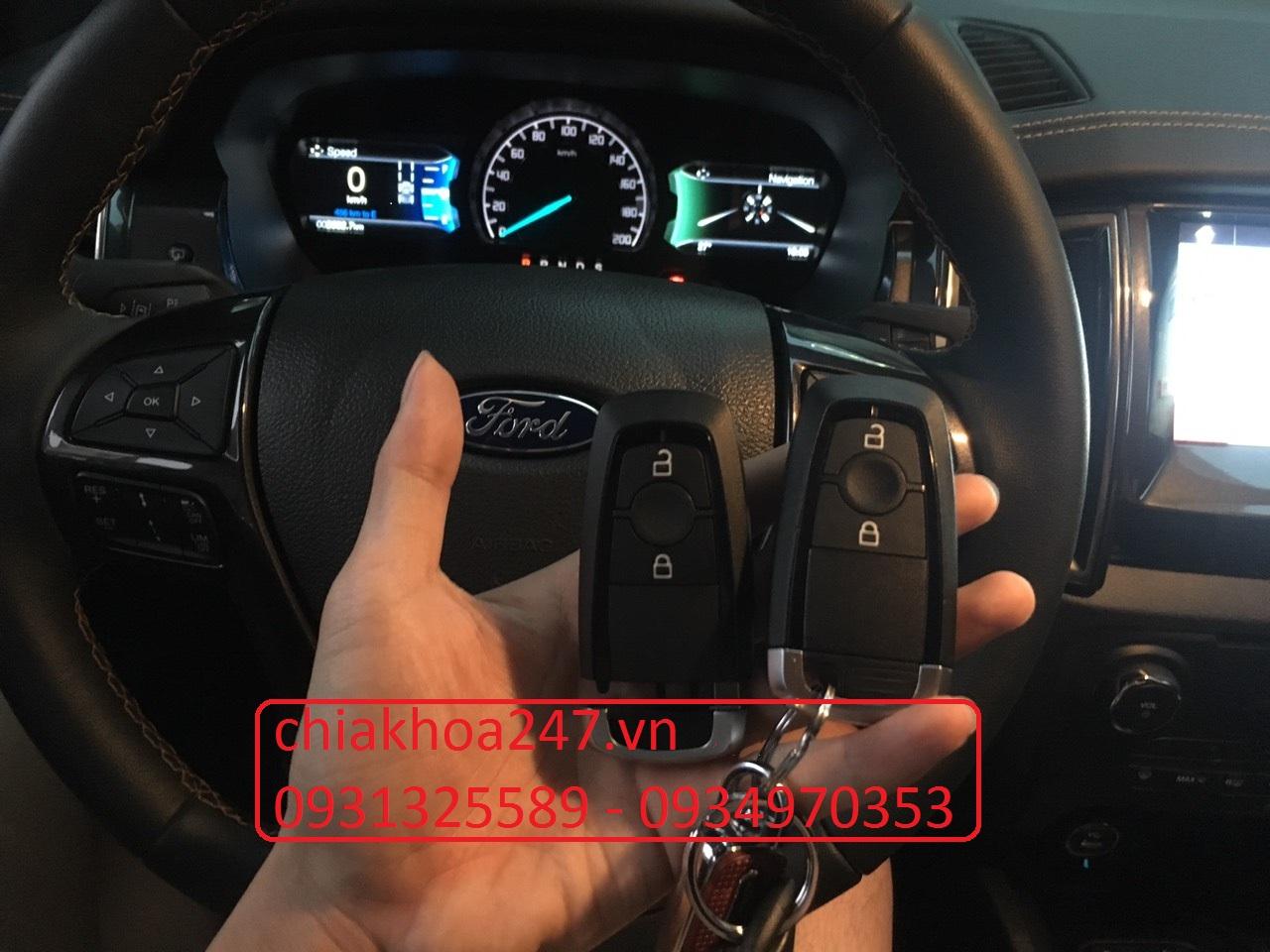 Chìa khóa thông minh ford ranger Bi-Turbo 2019